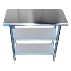 work tables with two undershelves