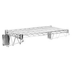 chrome wire wall mount shelf